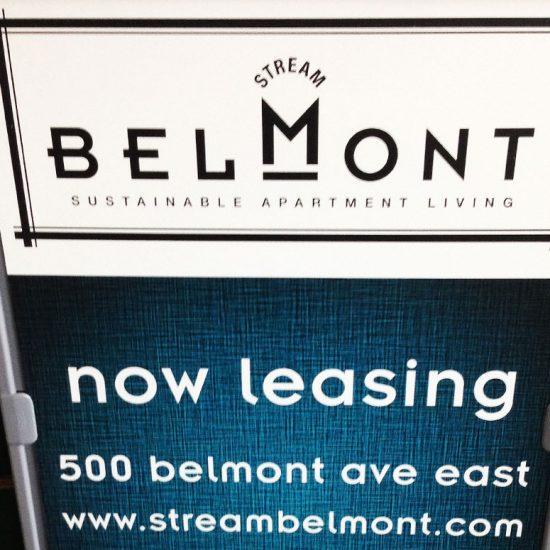 Stream Belmont Signage